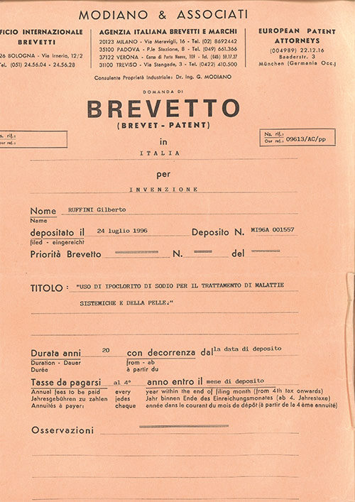 Brevetto Metodo Ruffini
